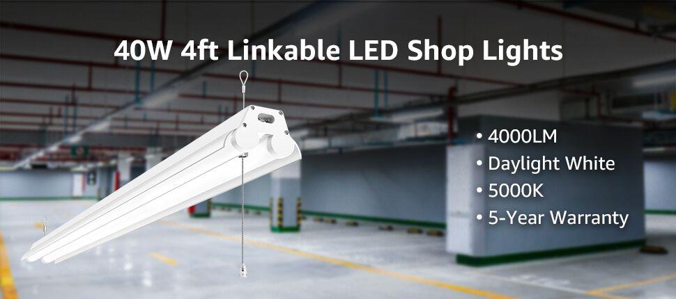 4 pack LED shop lights