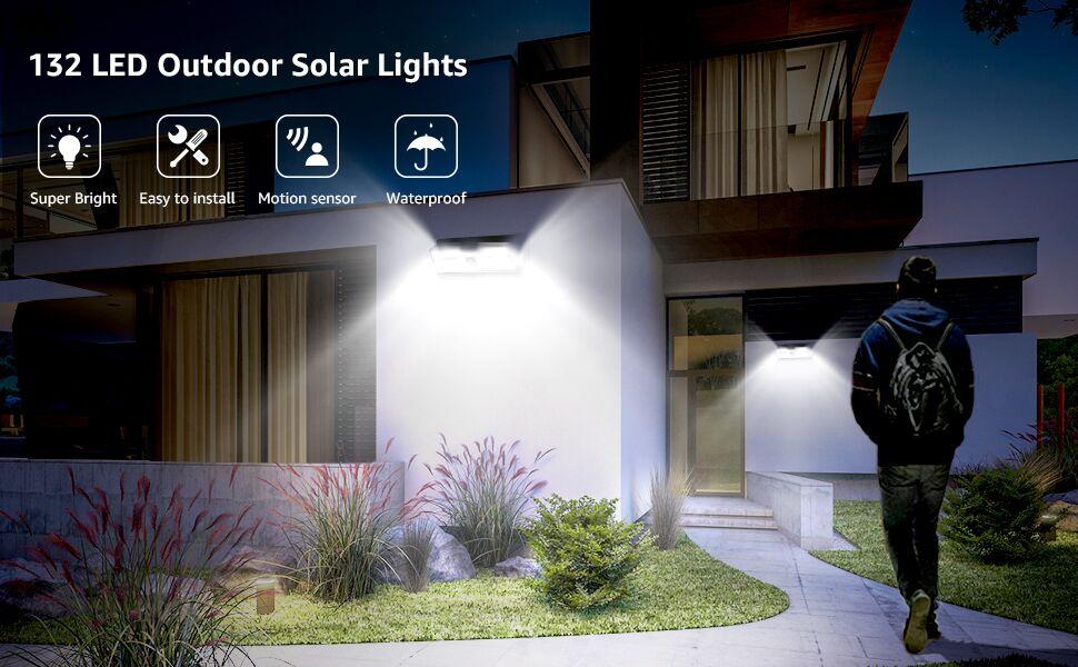 lepro solar outdoor flood lights