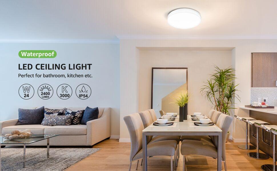 24w warm white led ceiling light