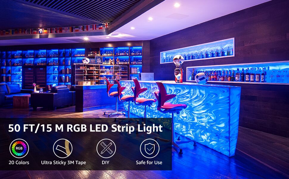 50ft rgb led strip lights