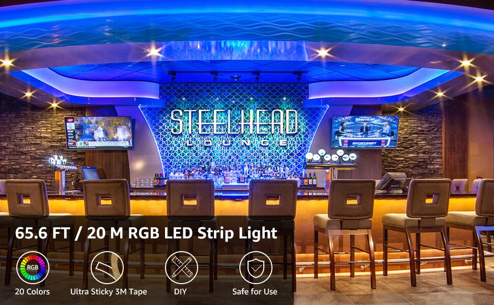 65ft rgb led strip lights