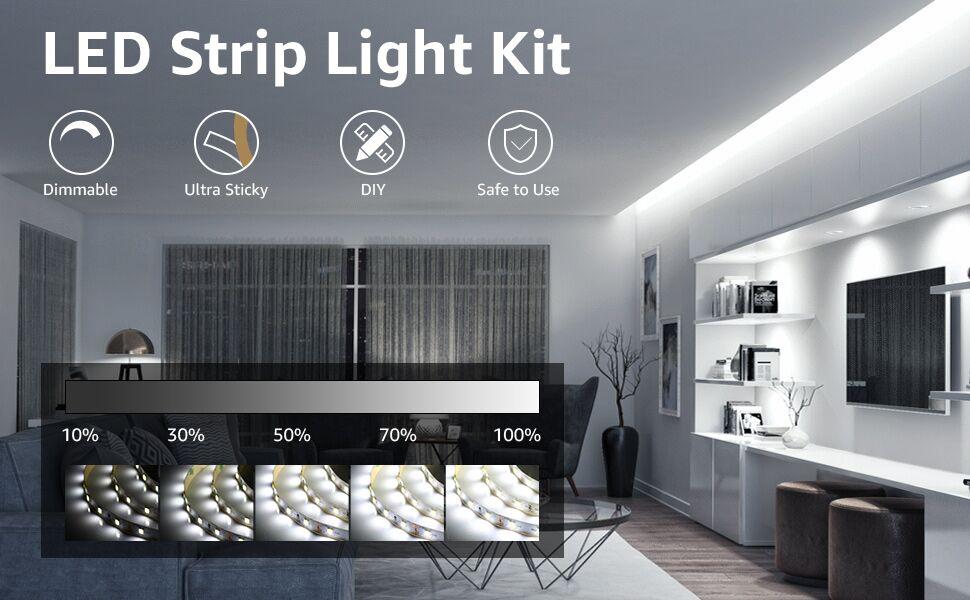 daylight white led strip lights