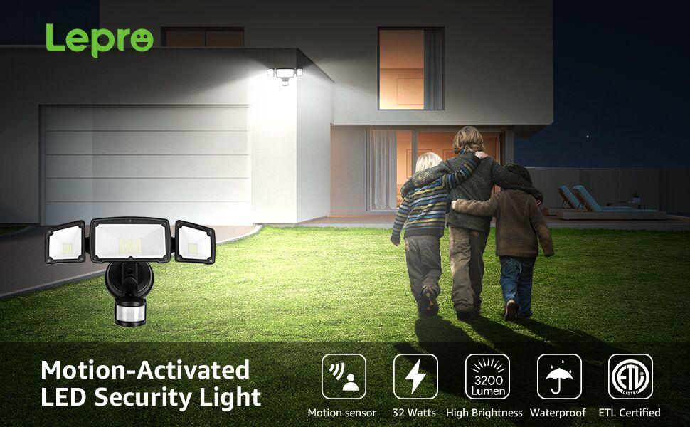 dusk to dawn motion sensor led security light