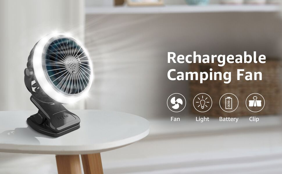 Camping fan LED light