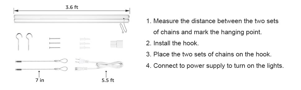 how to install led shop lights