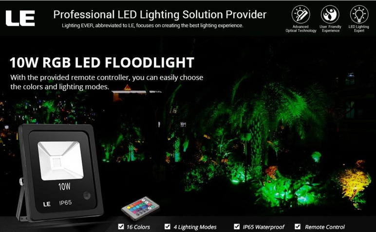 10w rgb led flood light