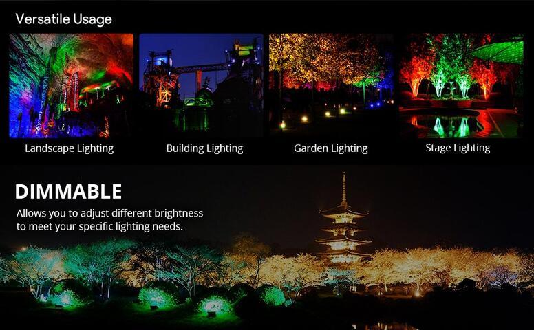 10w color changing led flood lights