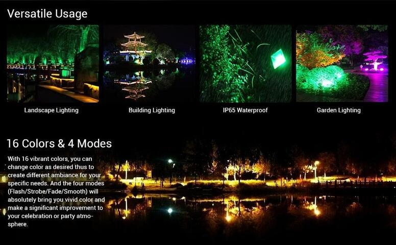 waterproof rgb led flood lights