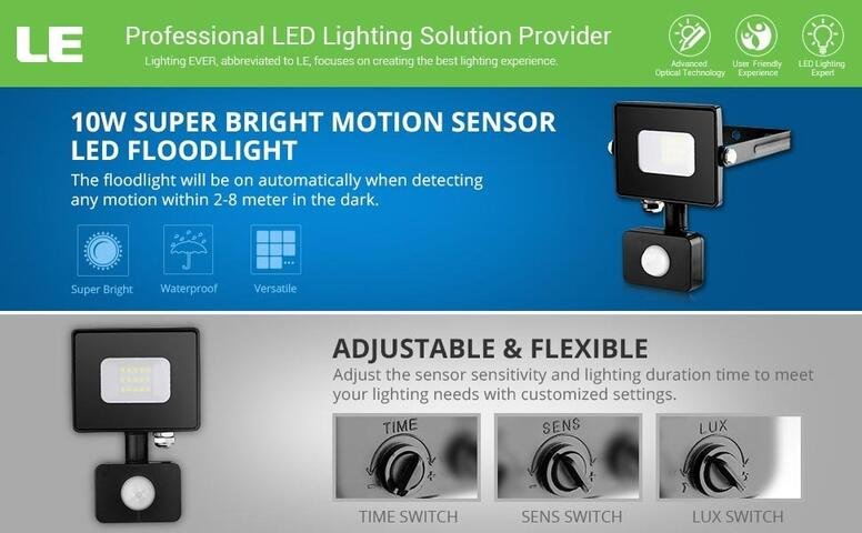 10w motion sensor led flood light