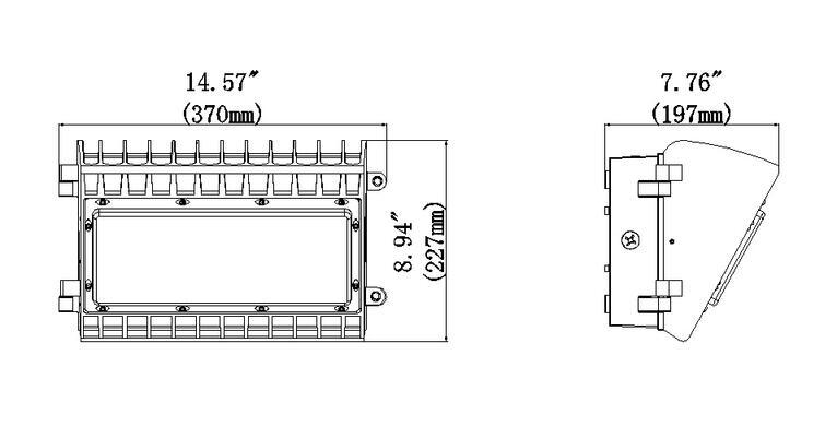 100W Semi-cutoff LED Wall Pack Light