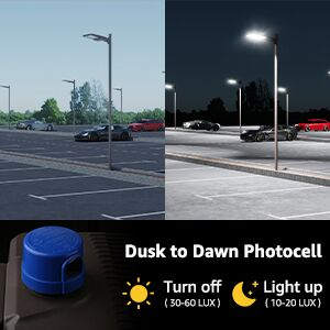 parking lot light with photocell