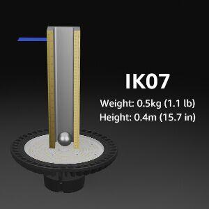 100W LED high bay light IK07