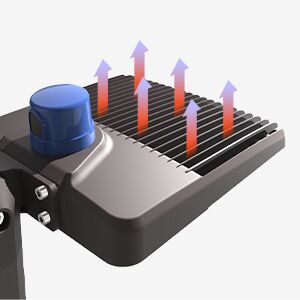 shoebox light heat dissipation