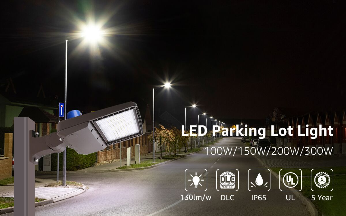 led parking lot light for a driveway